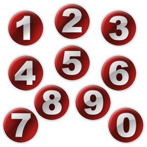 chiffres 1 à 9 en numérologie